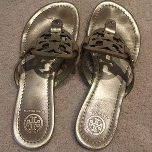 Tory Burch Shoes - Gold size 6 Tory Burch Miller Sandals